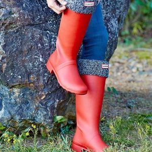 Hunter Youth Original Rain Boots Tall Matte Red